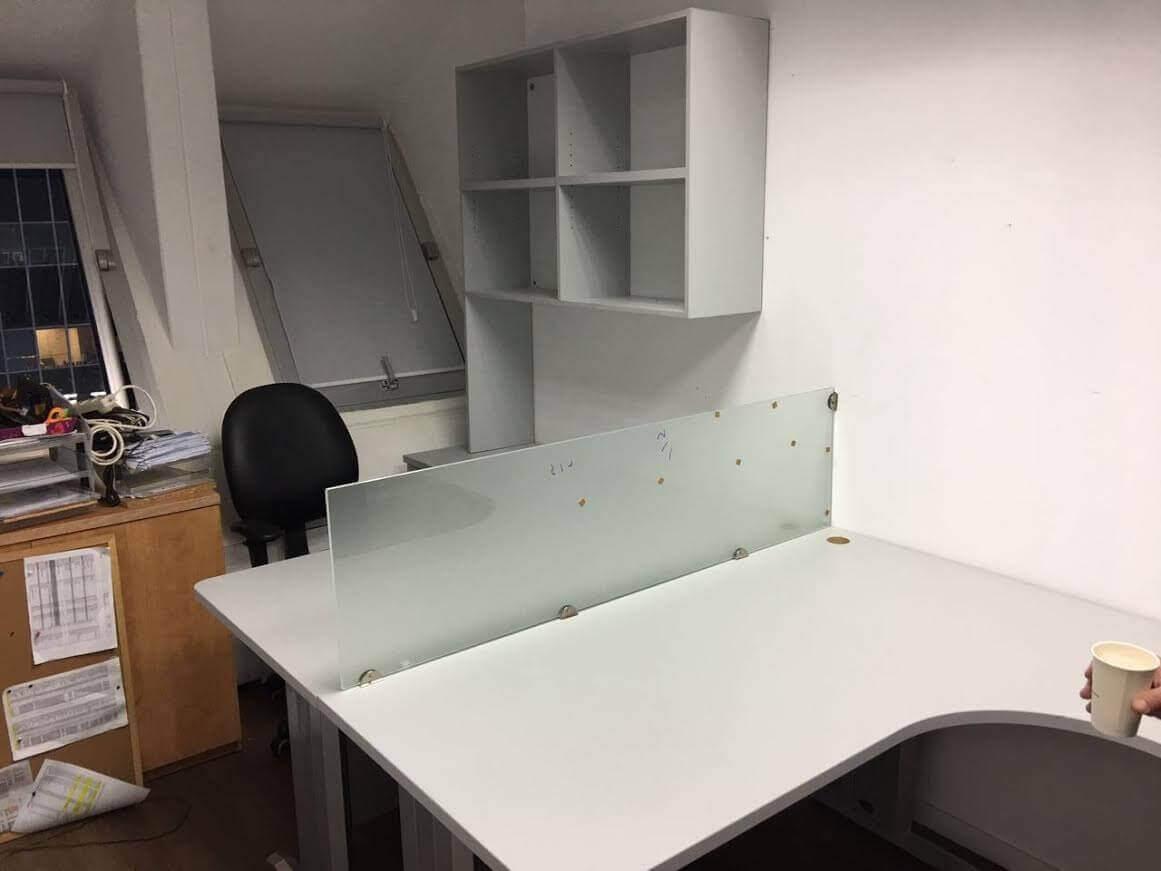 מחיצה למשרד מעץ דגם KN