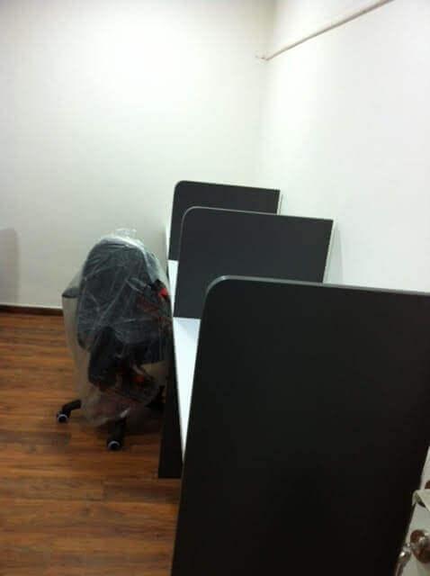 מחיצה למשרד מעץ דגם KM